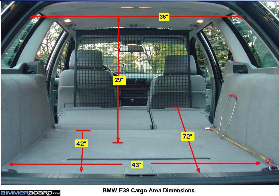 2008 bmw 535xi wagon cargo space