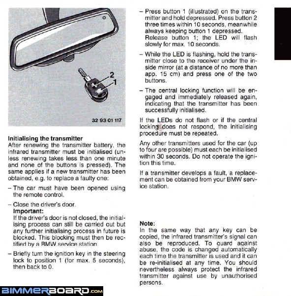 Remote locking don\'t work - Bimmerfest - BMW Forums