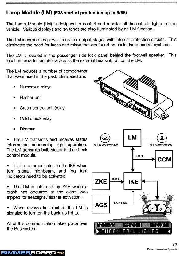 E38 LM Light Lamp Module up to 9_95 98 740i e38 fuse box schematic bimmerfest bmw forums  at fashall.co