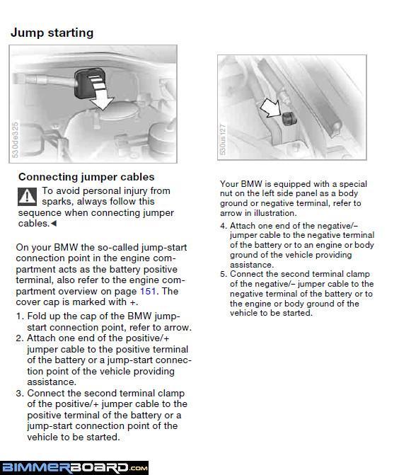 Can't jump start X5 (E53) - Bimmerfest - BMW Forums