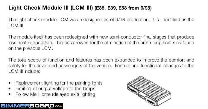 LCM LKM Follow Me Home Light Info 1 please help headlight issue 2001 bmw 740il bimmerfest bmw forums  at fashall.co